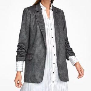 Zara | Grey Faux Suede Herringbone Blazer